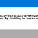 رفع خطای vcruntime140.dll