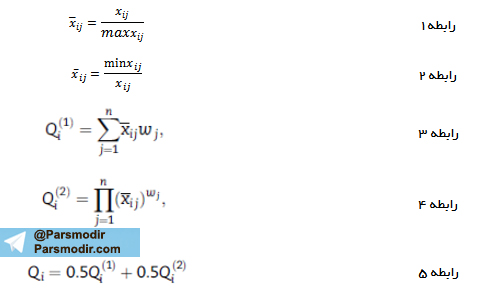 فرمول روش واسپاس