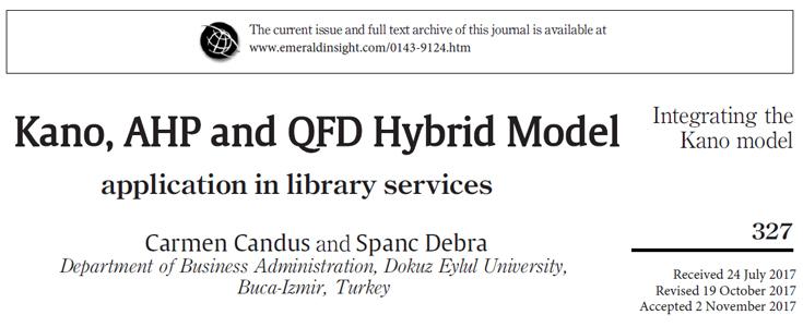 مدل ترکیبی کانو و AHP-QFD