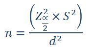 فرمول نمونه گیری