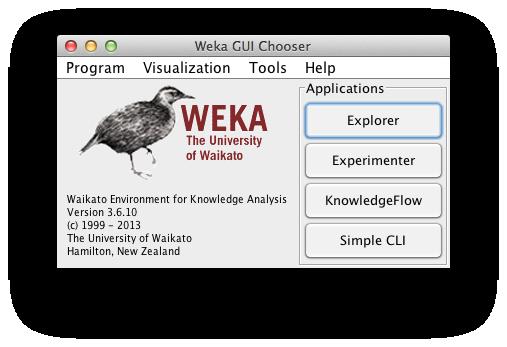 محیط نرمافزار دادهکاوی WEKA