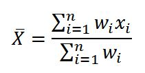 فرمول میانگین موزون