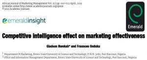 هوش رقابتی و اثربخشی بازاریابی