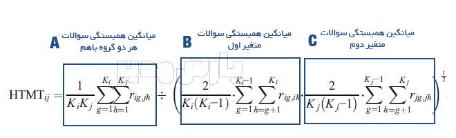 فرمول محاسبه شاخص HTMT