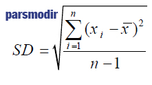 فرمول انحراف معیار (انحراف استاندارد)